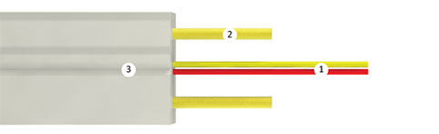 Оптический кабель Инкаб Абонентская «бабочка» ОВП-2А
